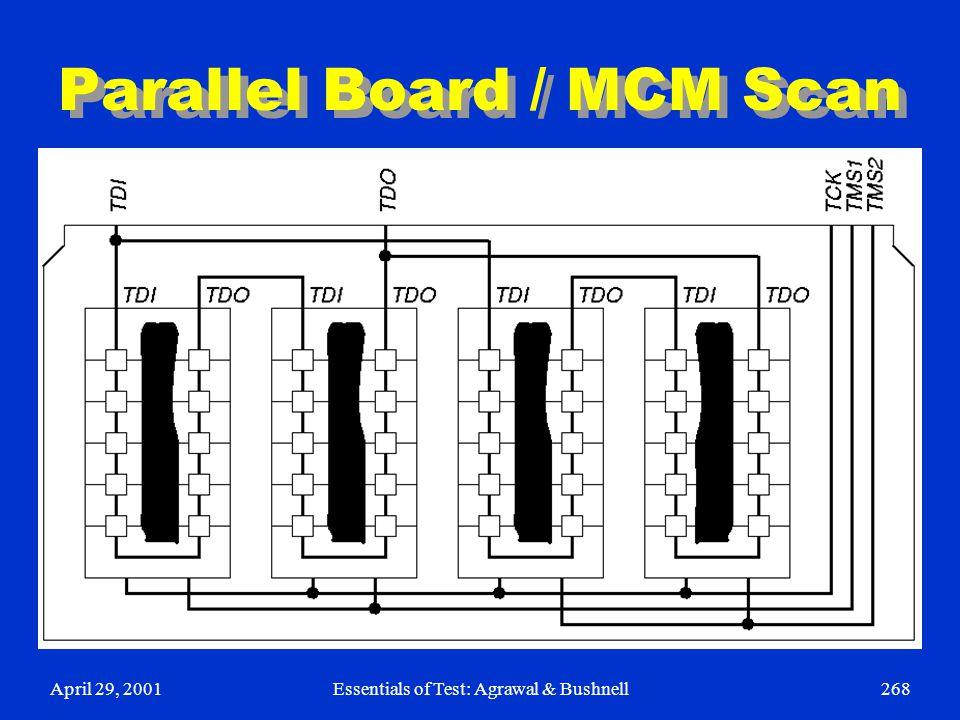 April 29, 2001Essentials of Test: Agrawal & Bushnell268 Parallel Board / MCM Scan