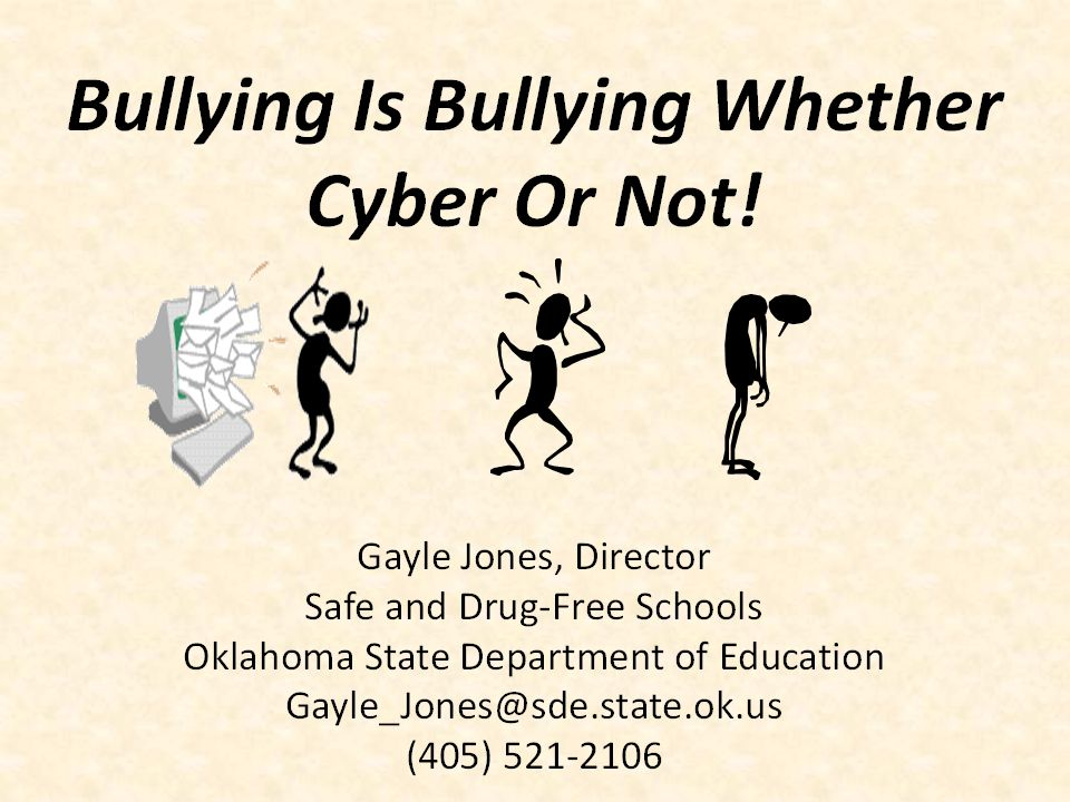 By the end of the workshop, you will learn… Bullying is not child's play.