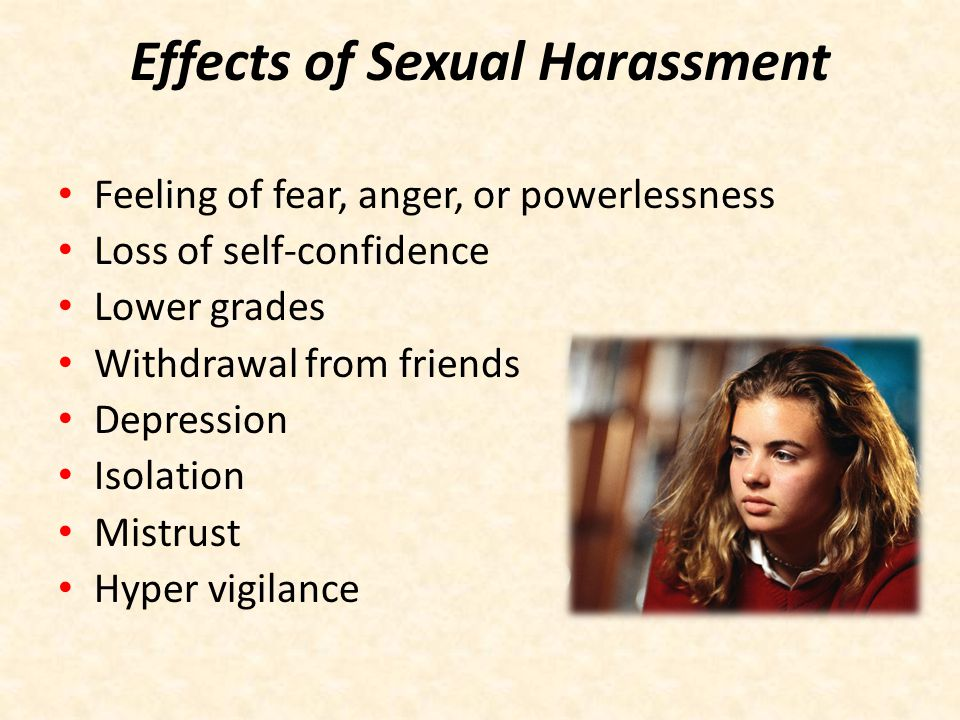Stopping Sexual Harassment Tell the harasser to stop.