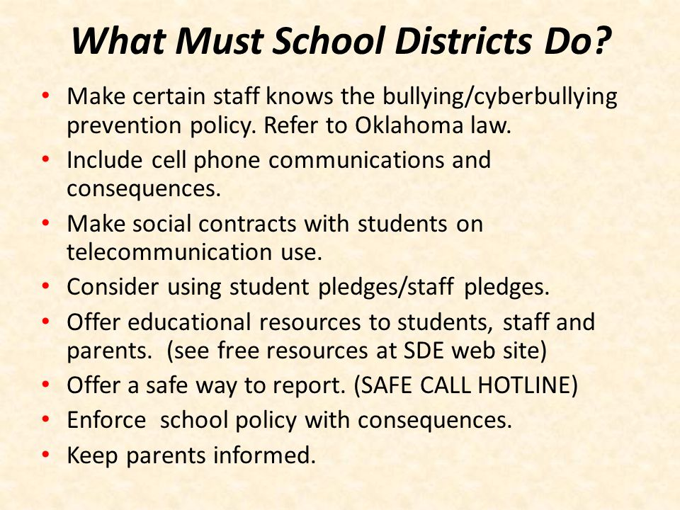 Best Practices for Prevention At School Incorporate comprehensive prevention programs which include cyberbullying messages in school-wide bullying prevention efforts.