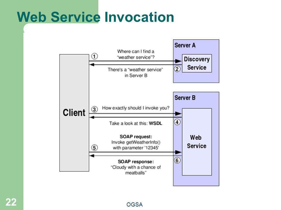 Web Service Invocation OGSA 22