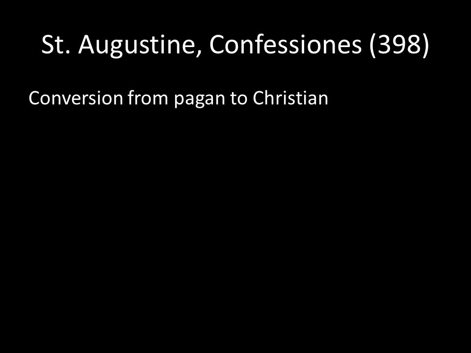 Conversion from pagan to Christian
