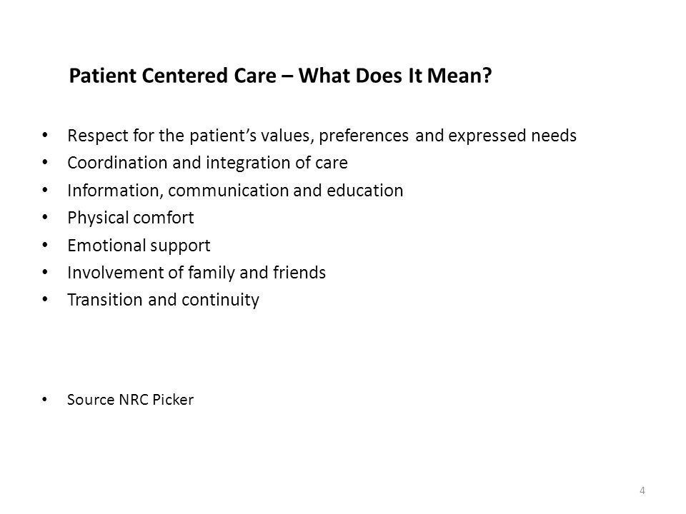 Patient Centered Care – What Does It Mean.