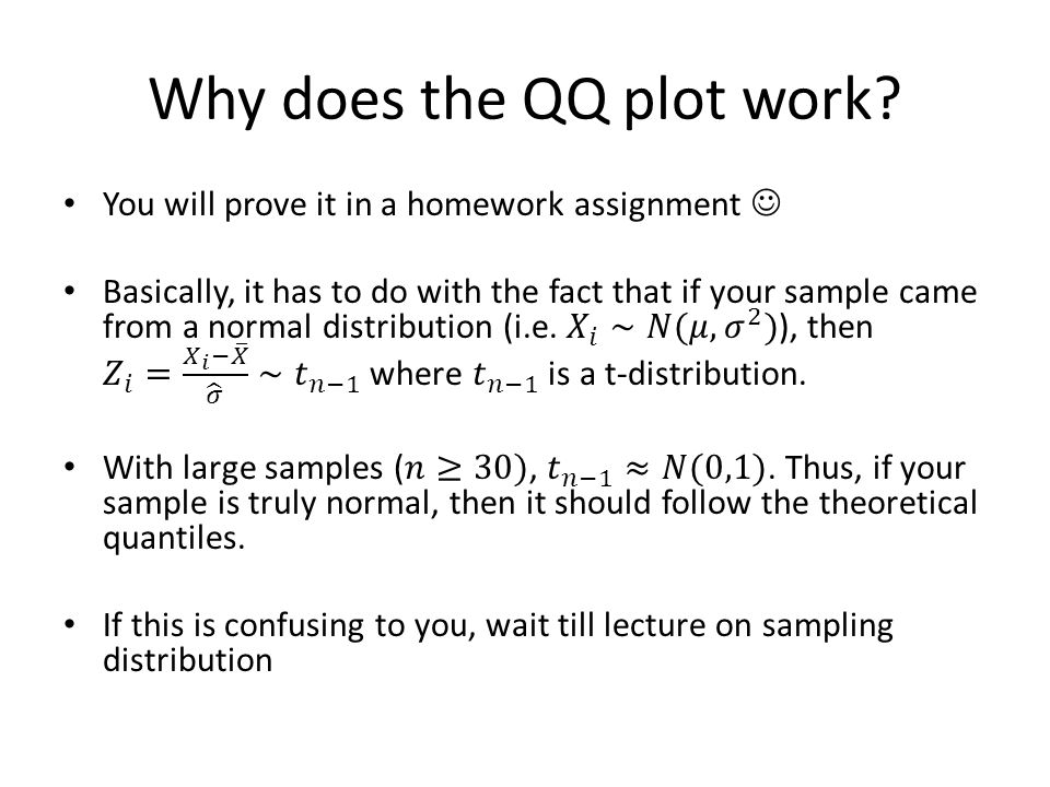 Why does the QQ plot work