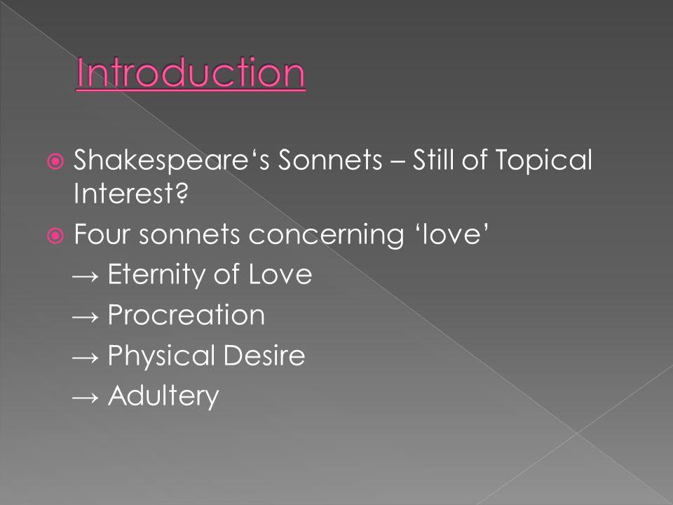  Shakespeare's Sonnets – Still of Topical Interest.