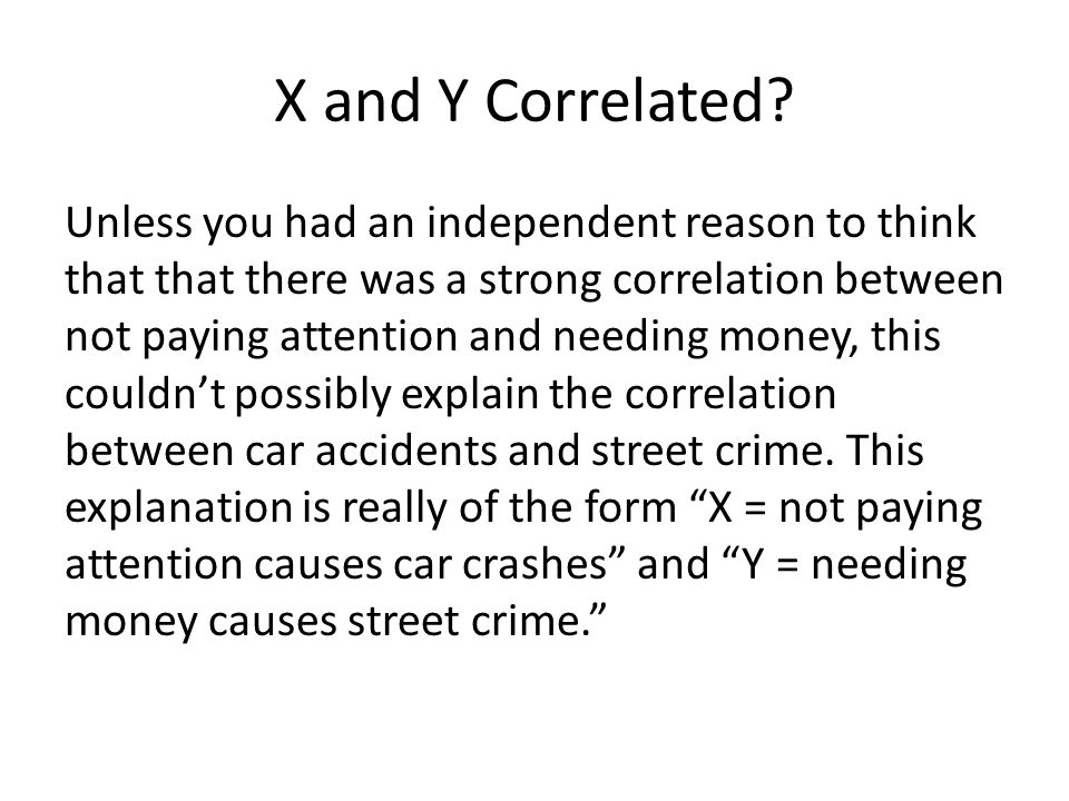 X and Y Correlated.