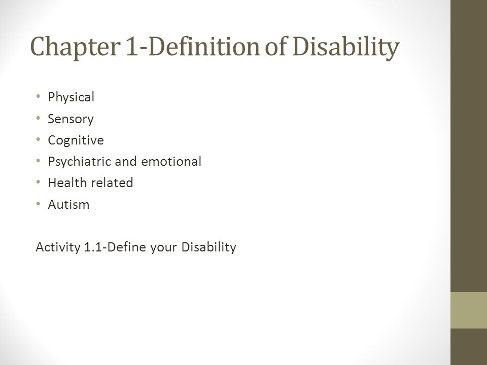 Guess What…you have a disability This is about accepting your disability and understanding what it means.