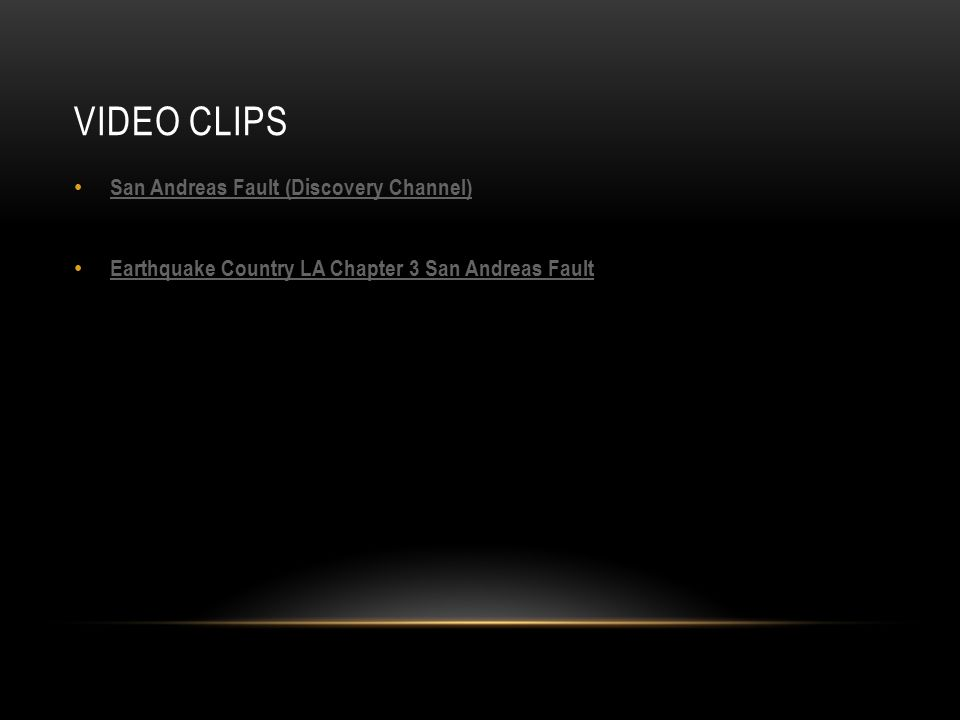 VIDEO CLIPS San Andreas Fault (Discovery Channel) Earthquake Country LA Chapter 3 San Andreas Fault