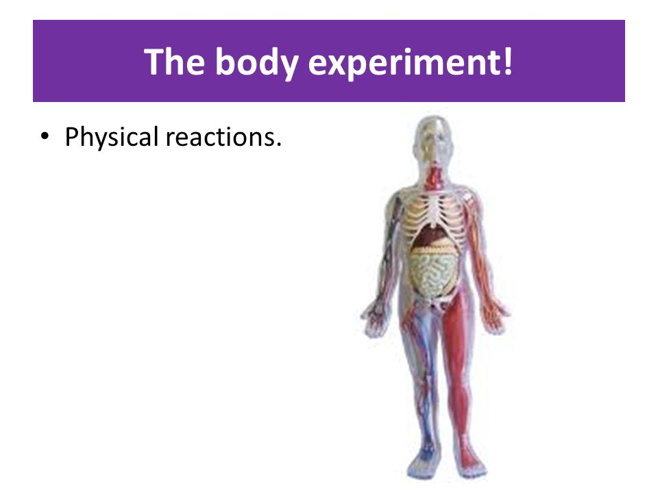 The body experiment! Physical reactions.