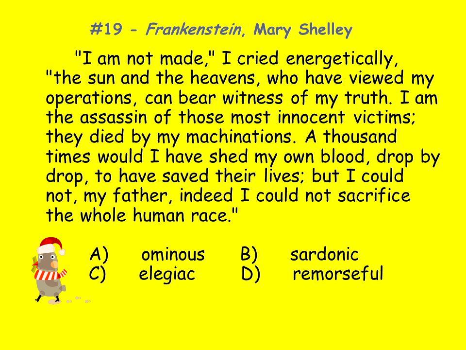 #19 - Frankenstein, Mary Shelley