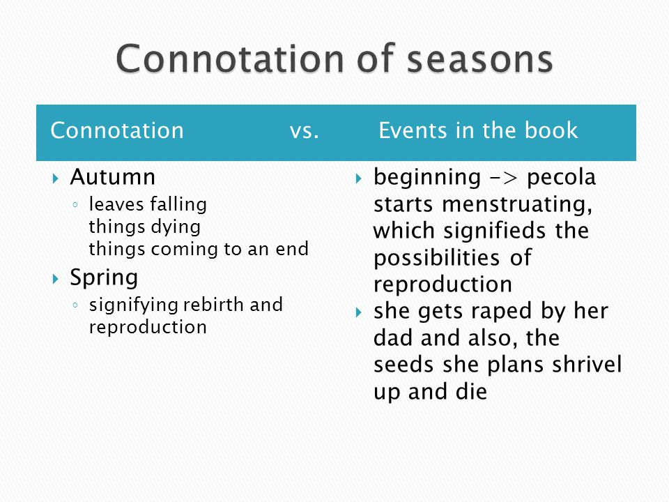 Why are the seasons divided by the chaotic line-up of words of the Dick and Jane story?
