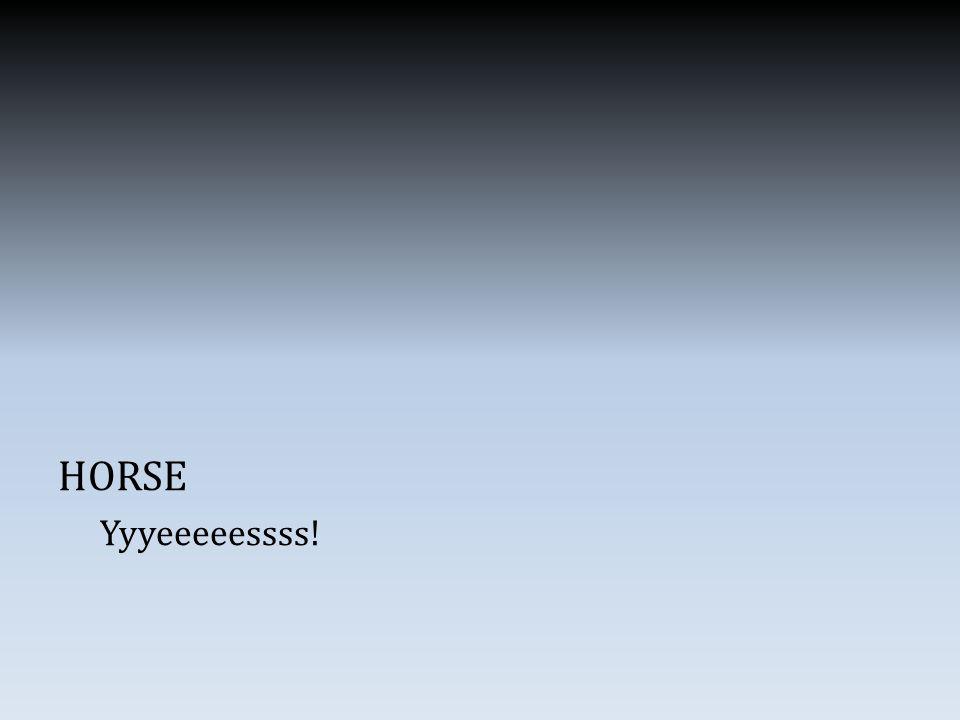 HORSE Yyyeeeeessss!