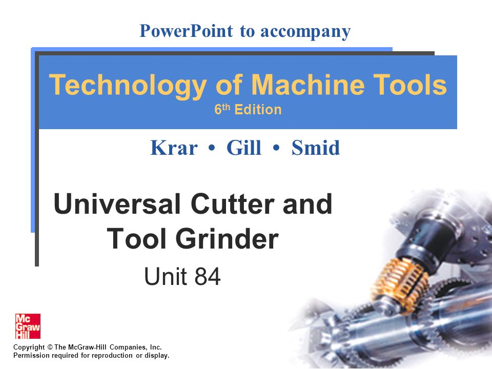 84-32 4.Adjust machine so wheel revolves at proper speed 5.True face of wheel and dress cutting edge so it is no more than 1/16in wide 6.Swivel wheelhead to 89º so wheel will touch cutter on left side of wheel only 7.Using centering gage, adjust wheelhead spindle to height of tailstock centers; Lock wheelhead spindle