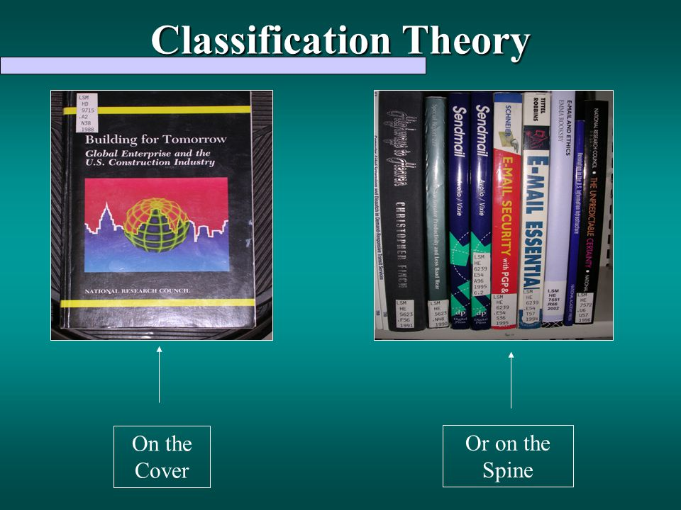 Classification Theory Or on the Spine On the Cover