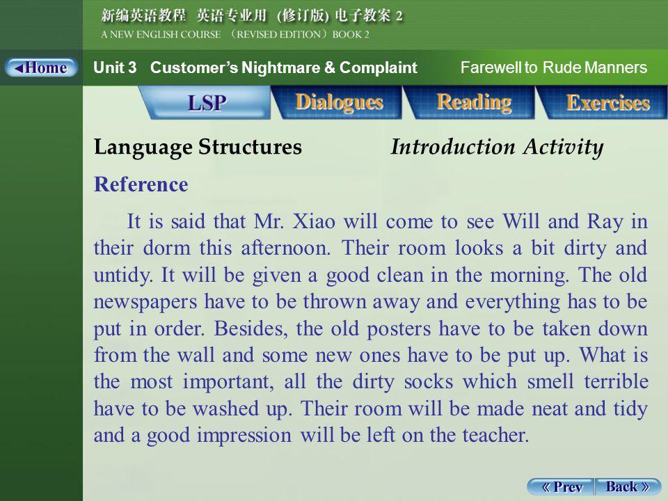 Unit 3 Customer's Nightmare & Complaint Farewell to Rude Manners Reading_Notes 1_appreciate appreciate: v.
