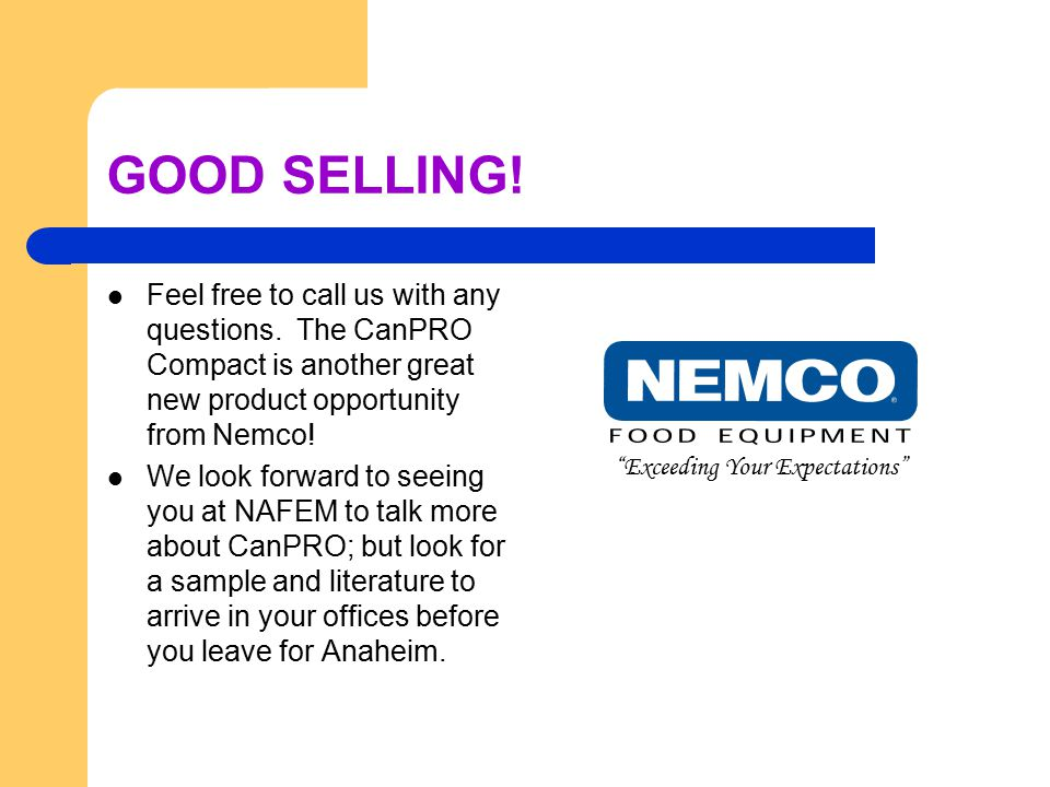 GOOD SELLING. Feel free to call us with any questions.