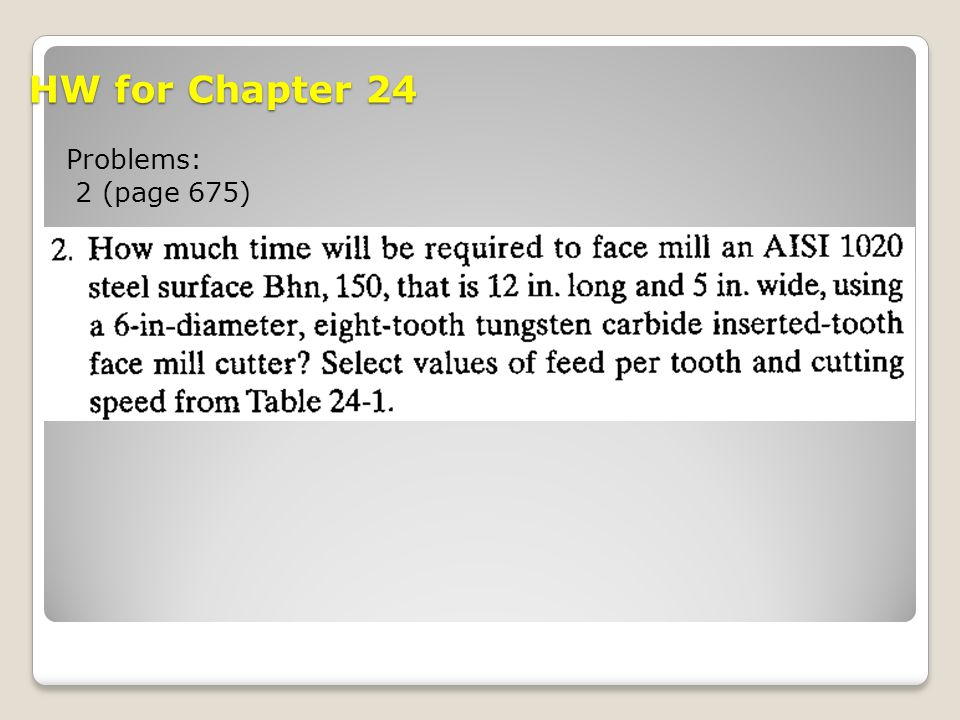 HW for Chapter 24 Problems: 2 (page 675)
