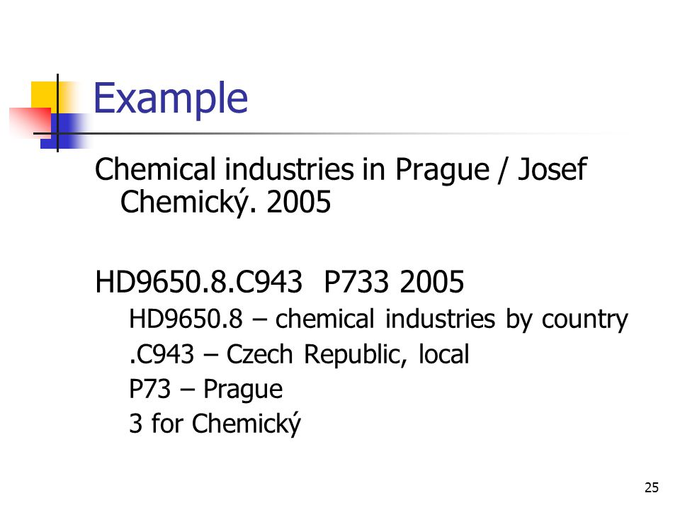 25 Example Chemical industries in Prague / Josef Chemický.