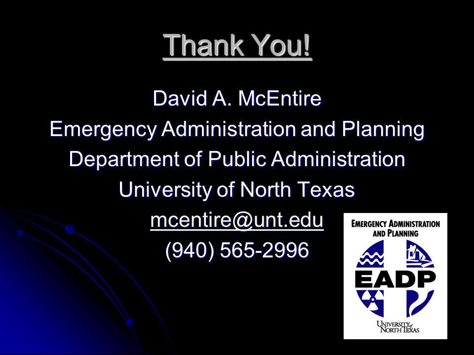 Thank You. David A.