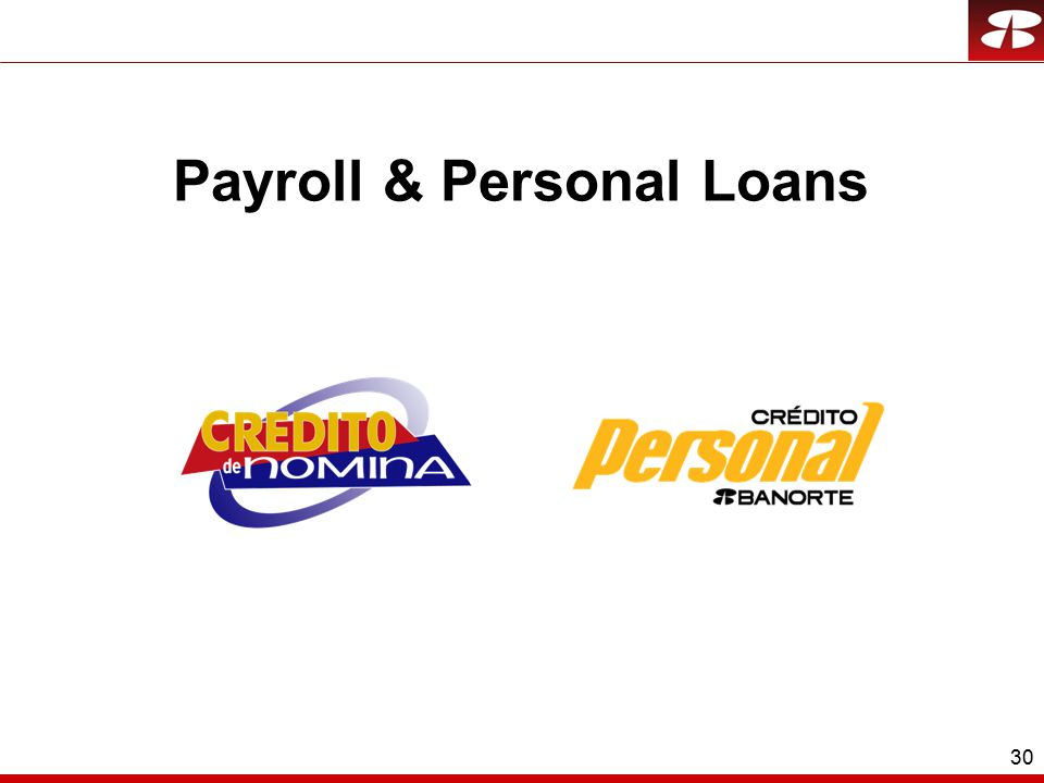 30 Payroll & Personal Loans