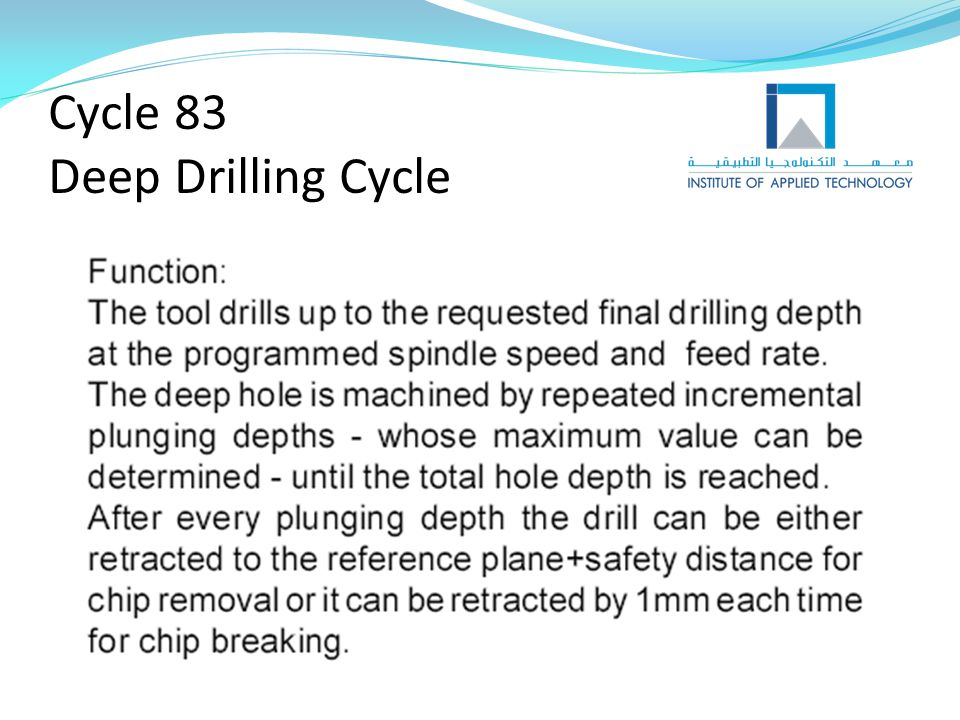 Cycle 83 Deep Drilling Cycle