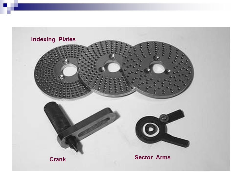 Indexing Plates Crank Sector Arms