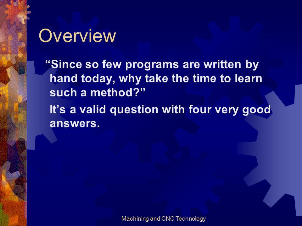 Machining and CNC Technology Level 1 Programming