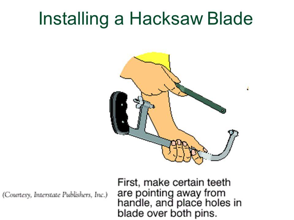 Installing a Hacksaw Blade