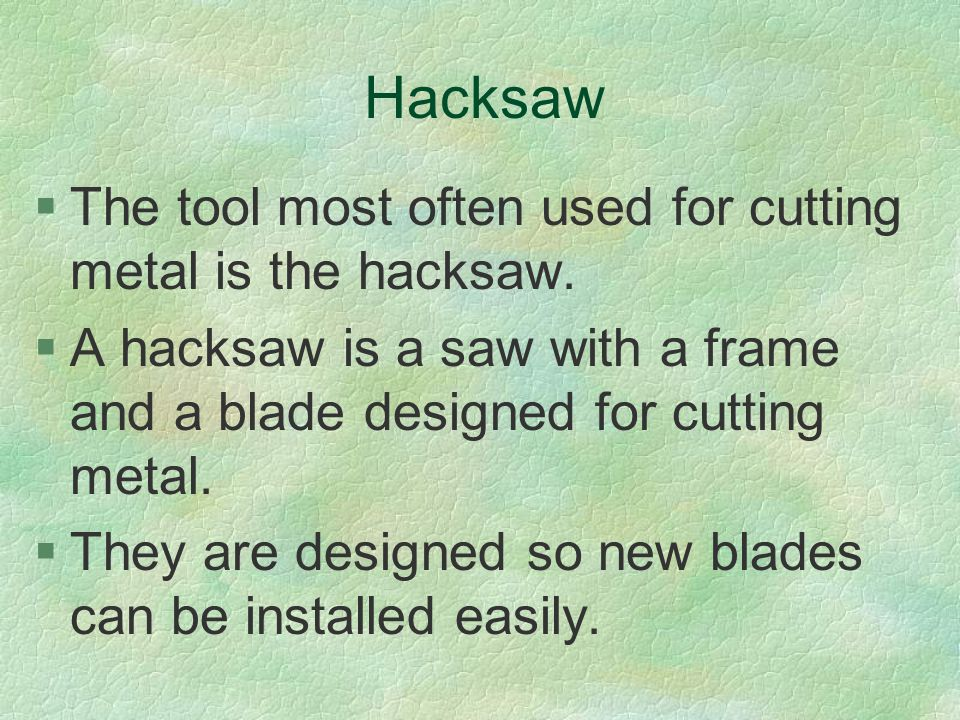 The procedure for using a hot cutter is as follows: §1.