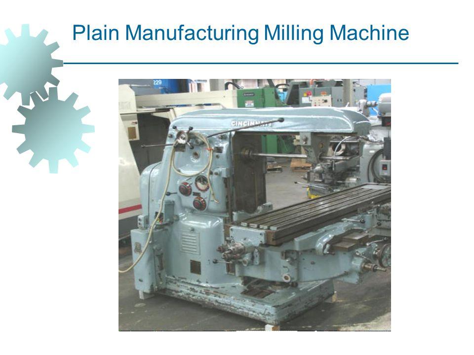 Plain Manufacturing Milling Machine