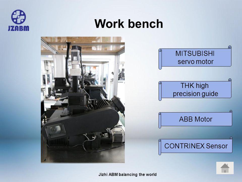 Jizhi ABM balancing the world Work bench MITSUBISHI servo motor CONTRINEX Sensor ABB Motor THK high precision guide