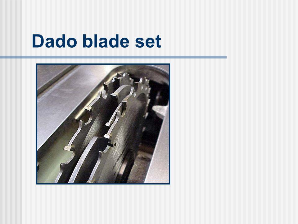 Dado blade set