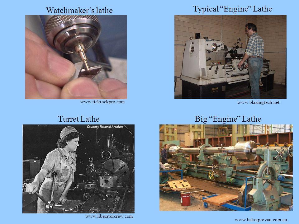 www.blazingtech.net www.bakerprovan.com.au www.liberatorcrew.com www.ticktockpro.com Watchmaker's lathe Typical Engine Lathe Turret LatheBig Engine Lathe