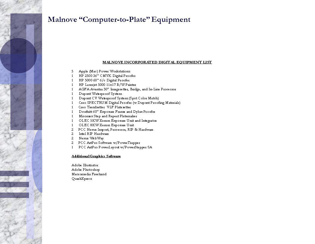"Malnove ""Computer-to-Plate"" Equipment"