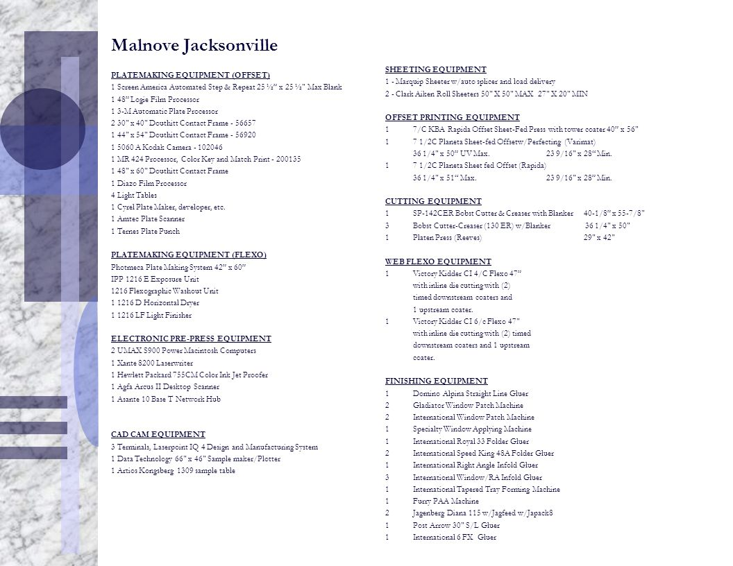 """Malnove Jacksonville PLATEMAKING EQUIPMENT (OFFSET) 1 Screen America Automated Step & Repeat 25 ½"""" x 25 ½"""