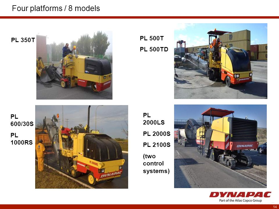 15 PL 350T – technical data  Cutting width 350 mm Cutting depth 100 mm  Engine Cummins B3.3 45 kW / 60 hp / 61 PS @ 2200 rpm  Weight Transport weight2,45 to Op.