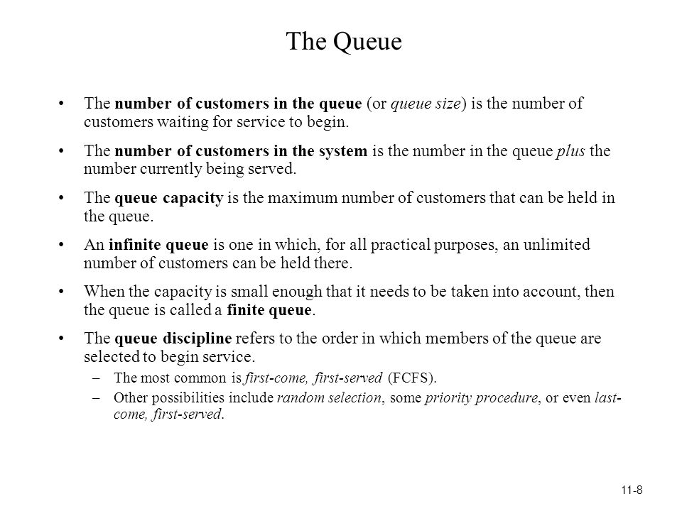 Some Insights About Designing Queueing Systems 1.When designing a single-server queueing system, beware that giving a relatively high utilization factor (workload) to the server provides surprisingly poor performance for the system.