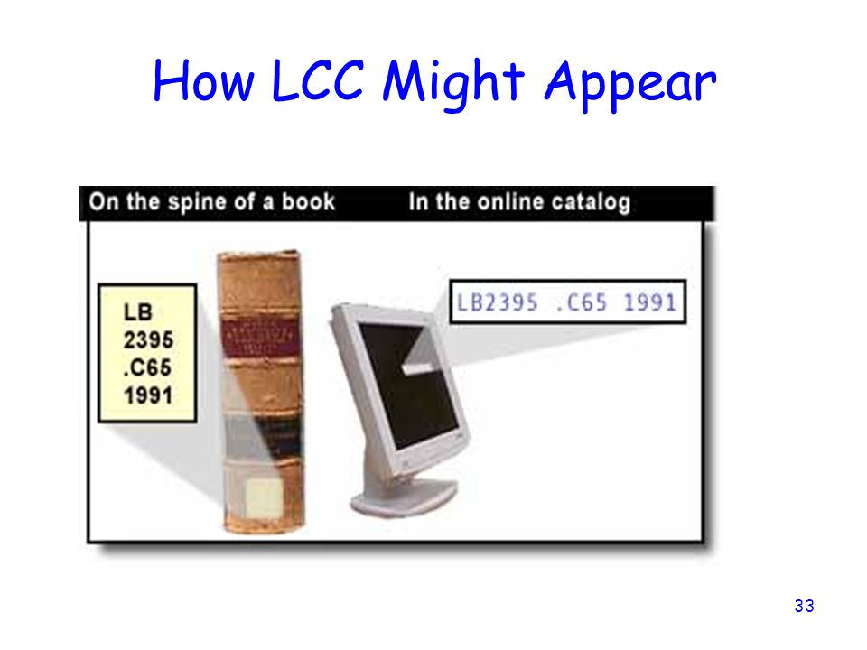 33 How LCC Might Appear