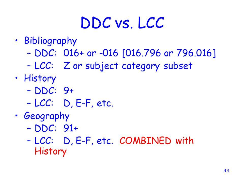 43 DDC vs.