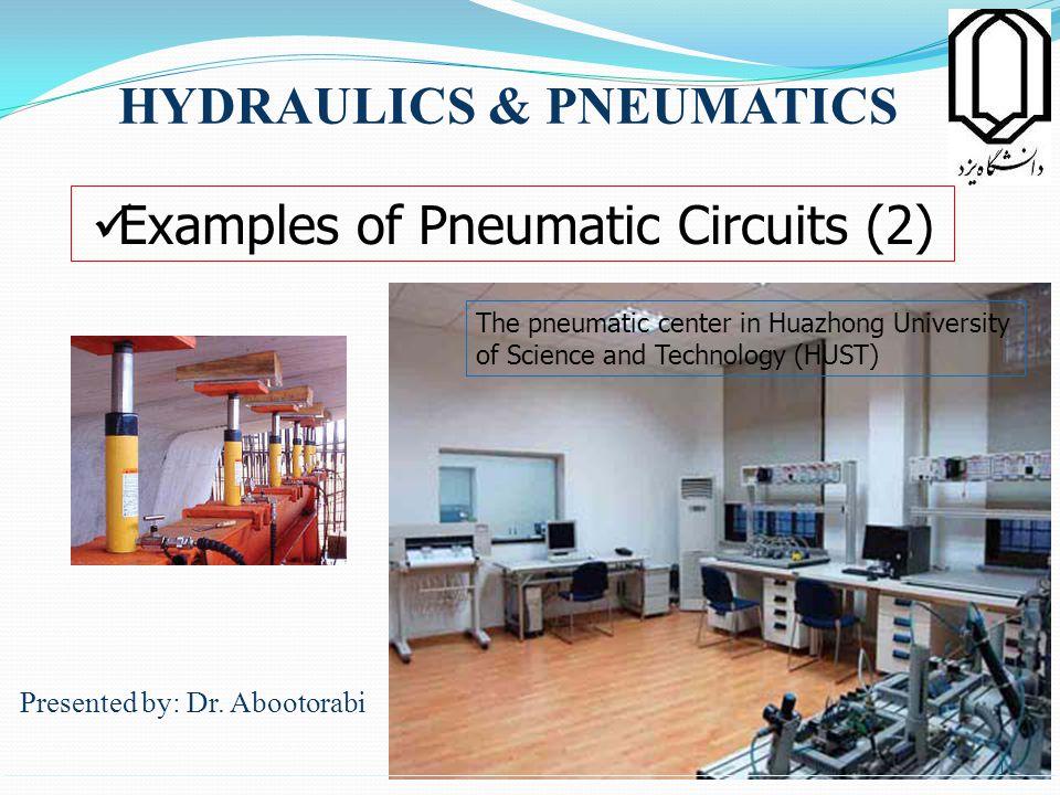 HYDRAULICS & PNEUMATICS Presented by: Dr.