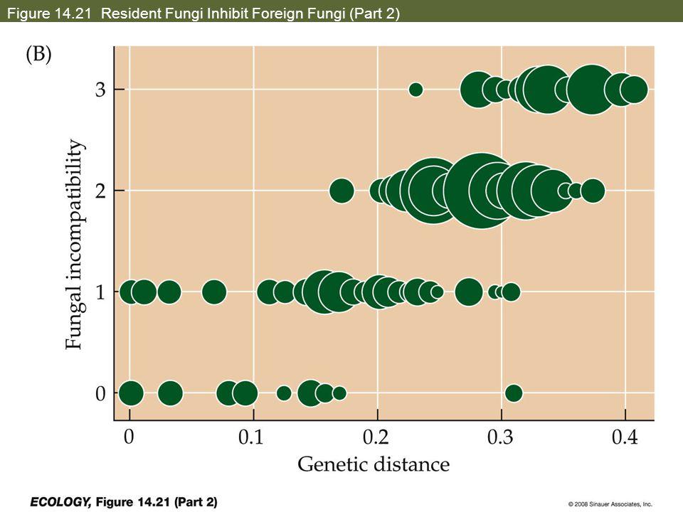 Figure 14.21 Resident Fungi Inhibit Foreign Fungi (Part 2)