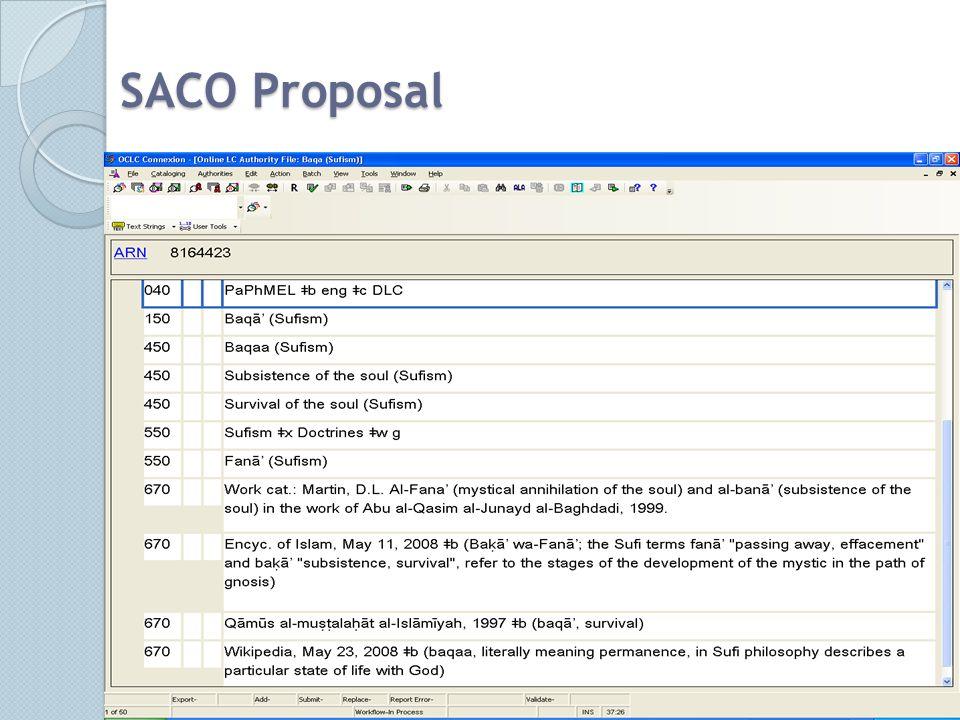 SACO Proposal Dewey in Authority Records12
