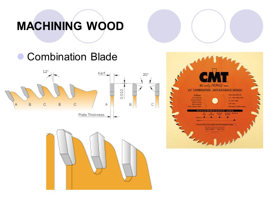MACHINING WOOD Combination Blade