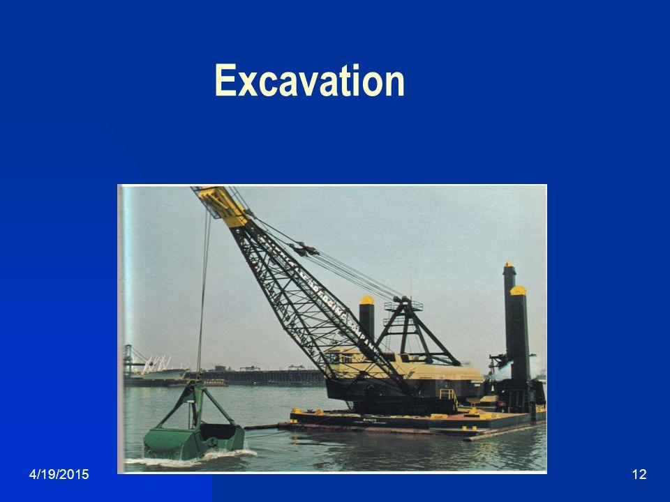 4/19/201512 Excavation