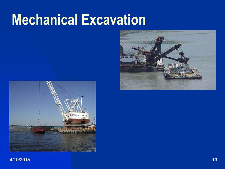 4/19/201513 Mechanical Excavation