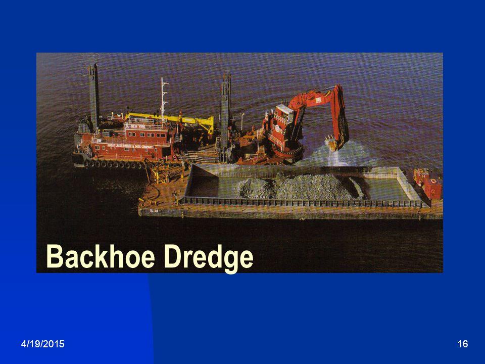 4/19/201516 Backhoe Dredge