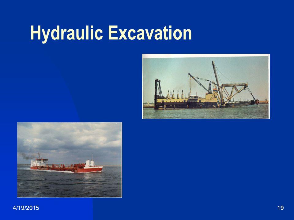 4/19/201519 Hydraulic Excavation