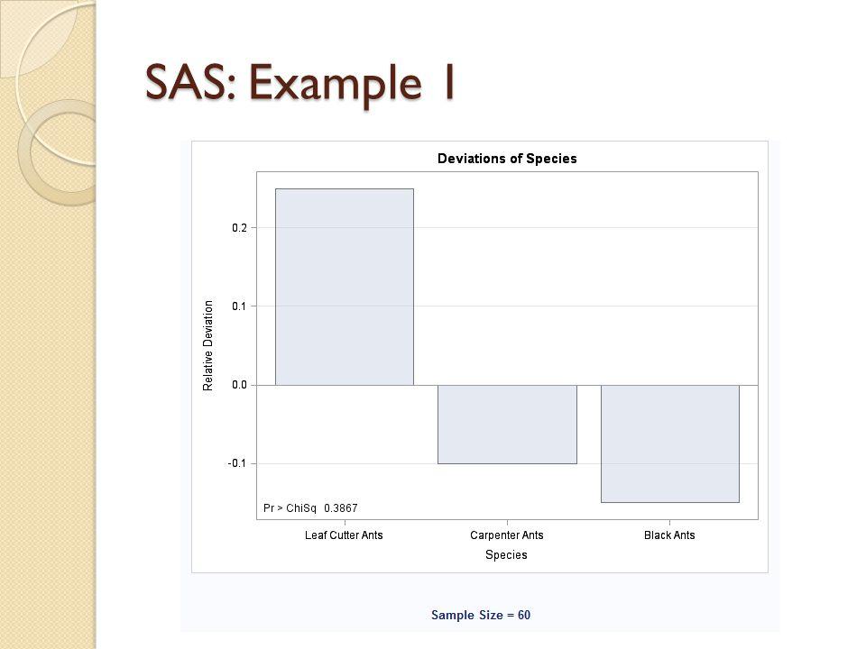 SAS: Example 1
