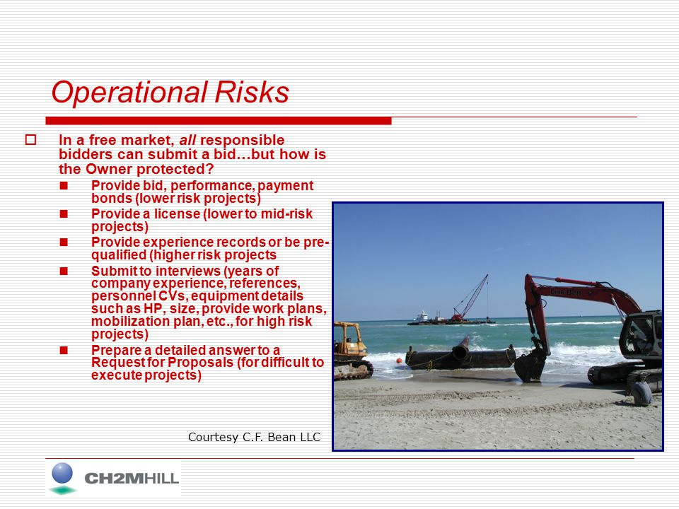 Environmental Risks  Identify decision criteria and restraints Stakeholder interests (port, technical, and regulators) Site characteristics and contaminant  Volume, type, and physical characteristic of the material and contaminant THESE WILL ALL AFFECT THE MANAGEMENT STRATEGY MOVING FORWARD!