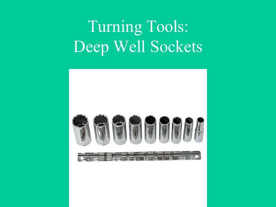 Turning Tools: Deep Well Sockets